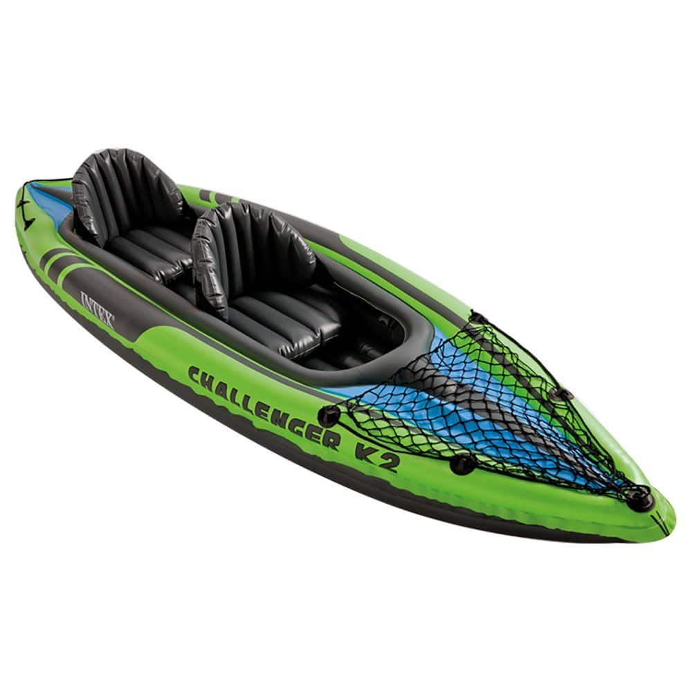 Intex Challenger K2 Kayak, 2-Person Inflatable Kayak Set with Aluminum Oars and High Output Air Pump $74.99