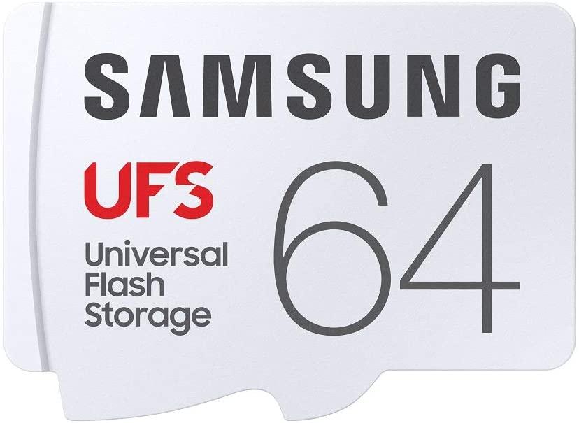 SAMSUNG UFS 64GB 500MB/s 4K UHD Universal Flash Storage (MB-FA64G) $6.62