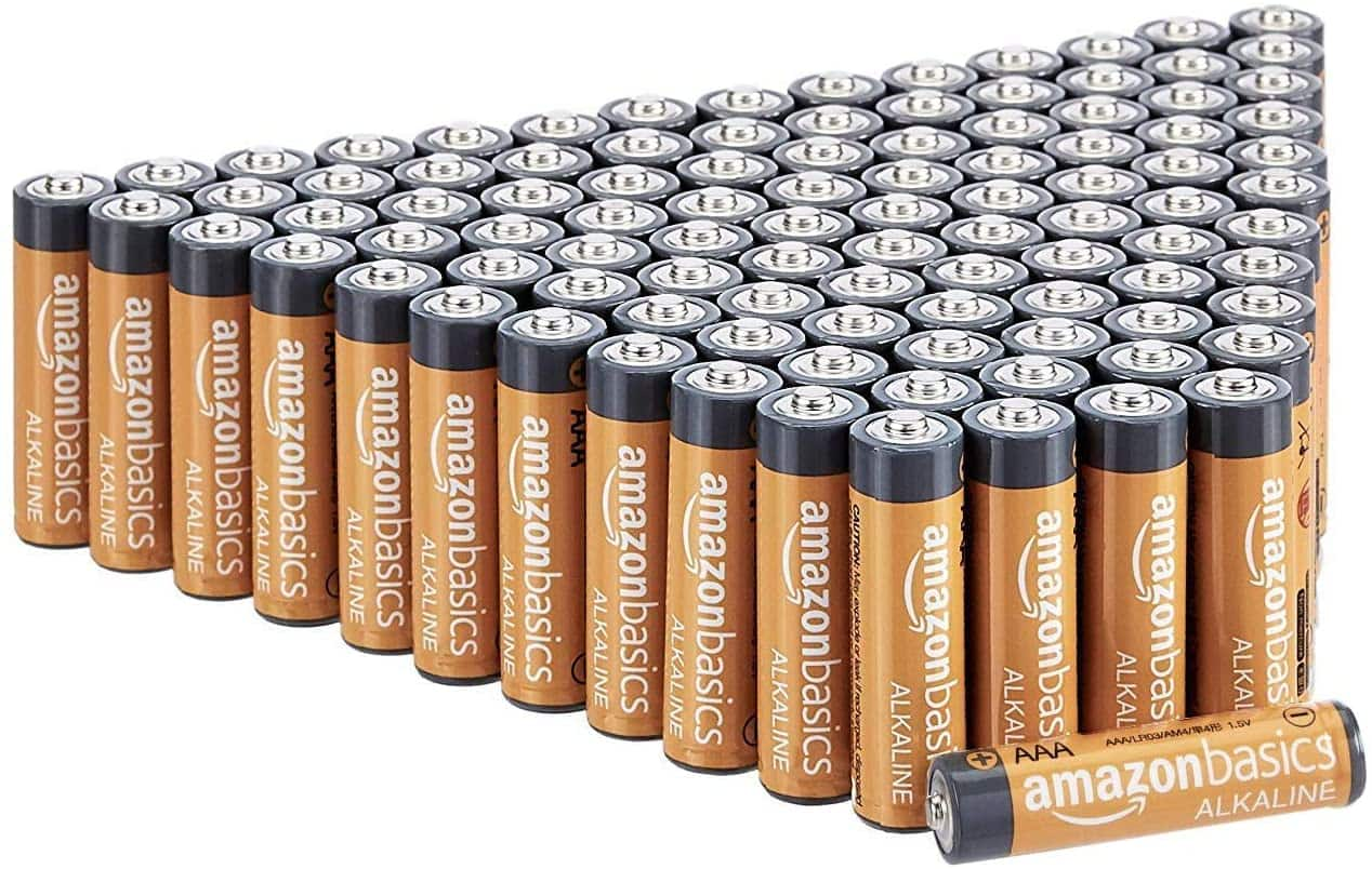 AmazonBasics 100 Pack AAA High-Performance Alkaline Batteries, $19.19 after 15% Subscribe and Save Coupon $19.19