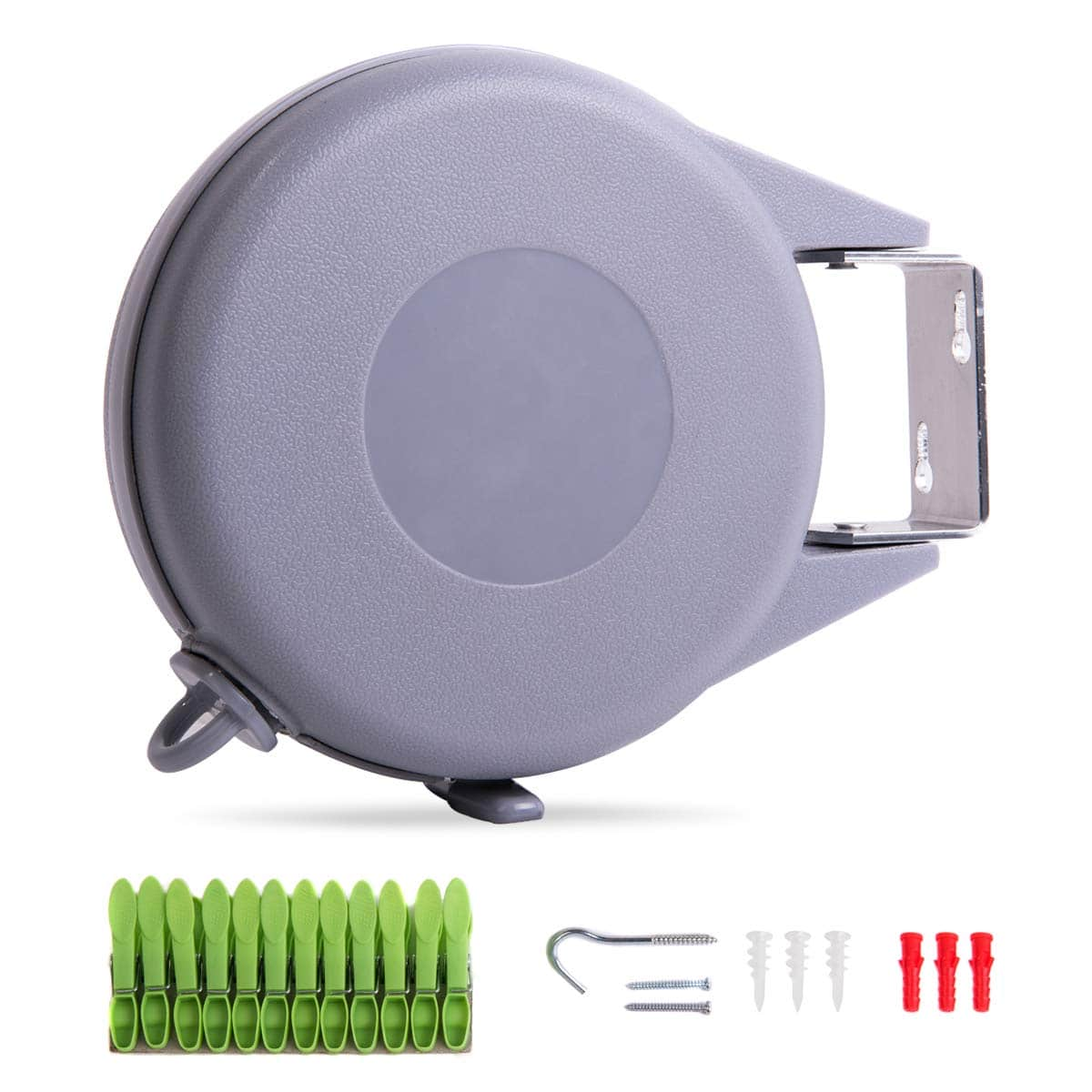 Save 30% OFF On Drynatural Retractable Clothesline Indoor/Outdoor Wall Mounted Clothes Dryer (with Code) $11.17
