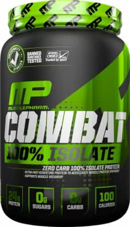 MusclePharm Combat 100% Isolate 5Lbs (84 Servings) + Free Shipping $59.99