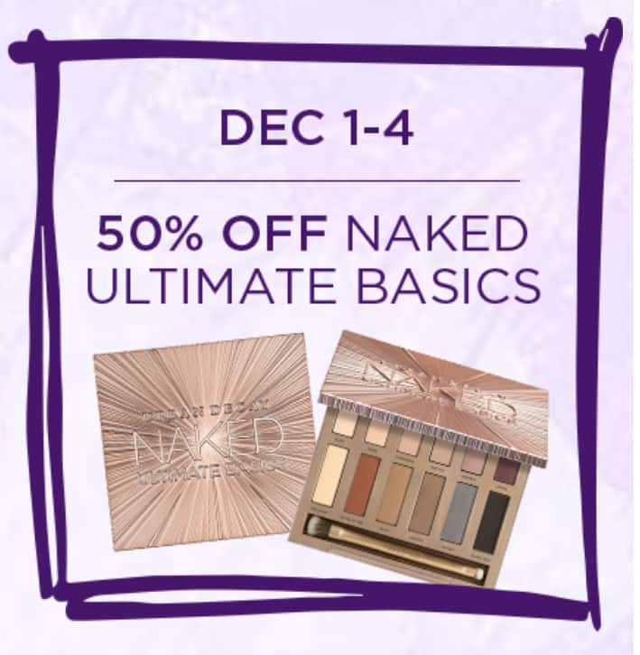 12/1-12/4 ONLY Urban Decay Naked Ultimate Basics 50% Off $27