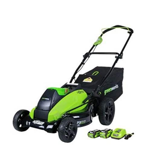 Greenworks 19-Inch 40V Brushless Cordless Lawn Mower, 4.0 AH & 2.0 AH Batteries Included 2500502 $269 @ Amazon