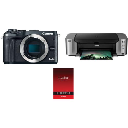 Canon EOS M5 Mirrorless Digital Camera Body with Inkjet Printer Kit $698.99