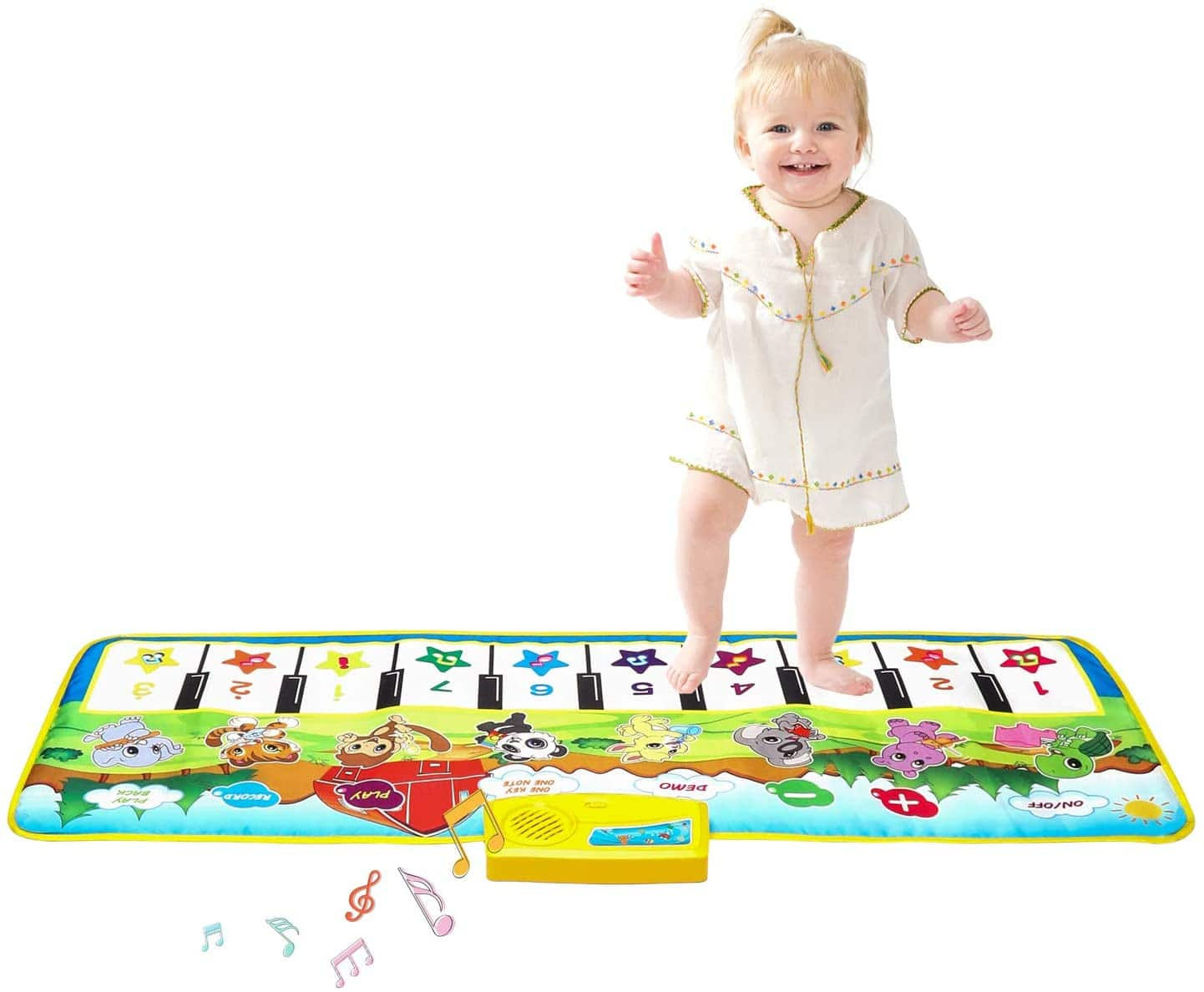 "Kids Piano Mat, 39.5"" X 14"" Music Mats Keyboard Dancing Mat $7.99"