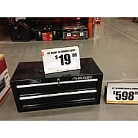 Home Depot Deal: Husky 2 drawer chest 19$ HD B&M YMMV