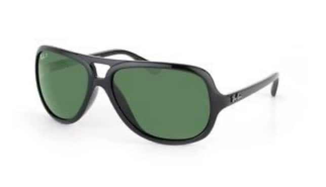 Ray-Ban RB4162 Aviator Sunglasses with Black Frame and Green Polarized Lenses For $59.99 @ eBay