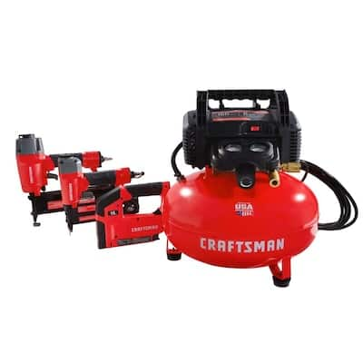CRAFTSMAN 6-Gallon Single Stage Portable Electric Pancake Air Compressor (3-Tools Included) $199