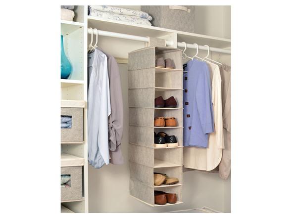 4 Pack - 8 Tier Hanging Closet Storage Organizers $23.99