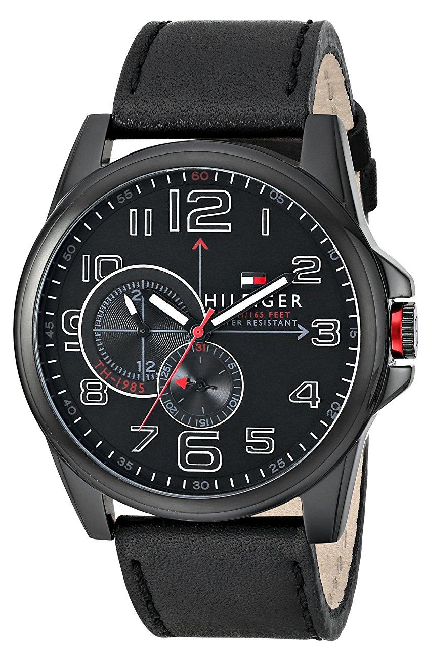 Tommy Hilfiger Watch black dial black strap $70.67