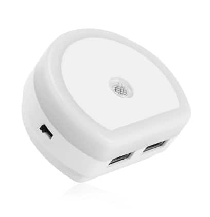 3-pack Dual USB Port Adapter Charger with Sensitive Light-Sensor Night Light - $2.99 + Free Shipping
