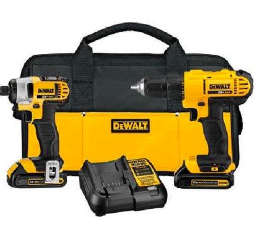DeWalt DCK240C2 20V Cordless Drill 2-Tool Combo Kit (Manufacturer Refurbished) $126.39 + Free Shipping