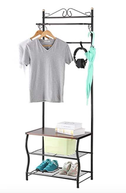 Langria Entryway Coat, Hat, and Shoe Rack $17.99 + Free Shipping