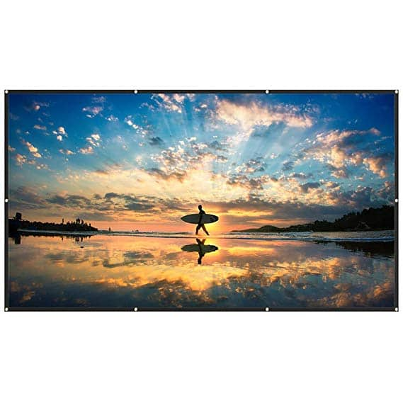 120'' TaoTronics Portable 16:9 Projector Screen $14.99 + Free Shipping