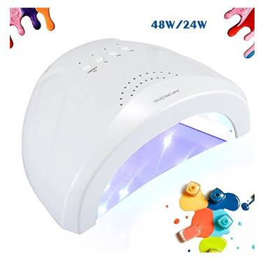 24 - 48W Nail Polish Light Power Adjustable UV Lamp for Curing All Gel Polish $14.99