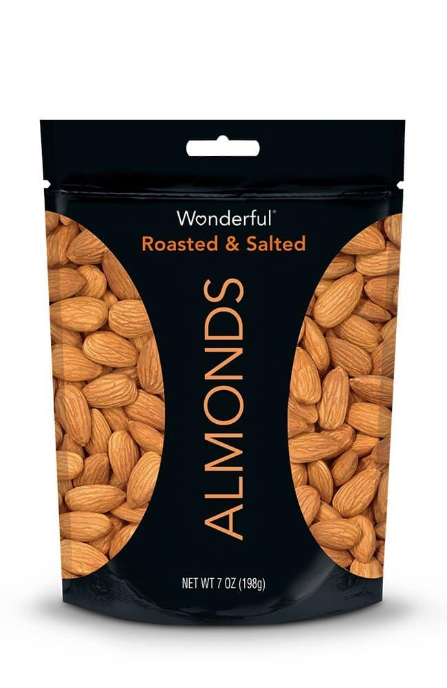 7-Oz Wonderful Almonds (Roasted and Salted) for $3.58