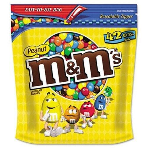 42-oz M&M'S Peanut Chocolate Candy Party Size Bag $5.98