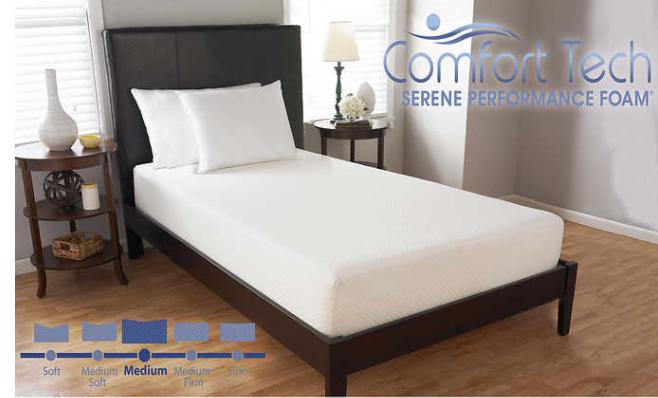 "Comfort Tech 10"" Serene Foam Twin Mattress $299.99@costco"