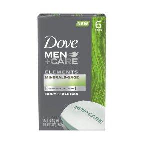 Dove Men+Care Elements Bar (6 Count)$6.88@Amazon.