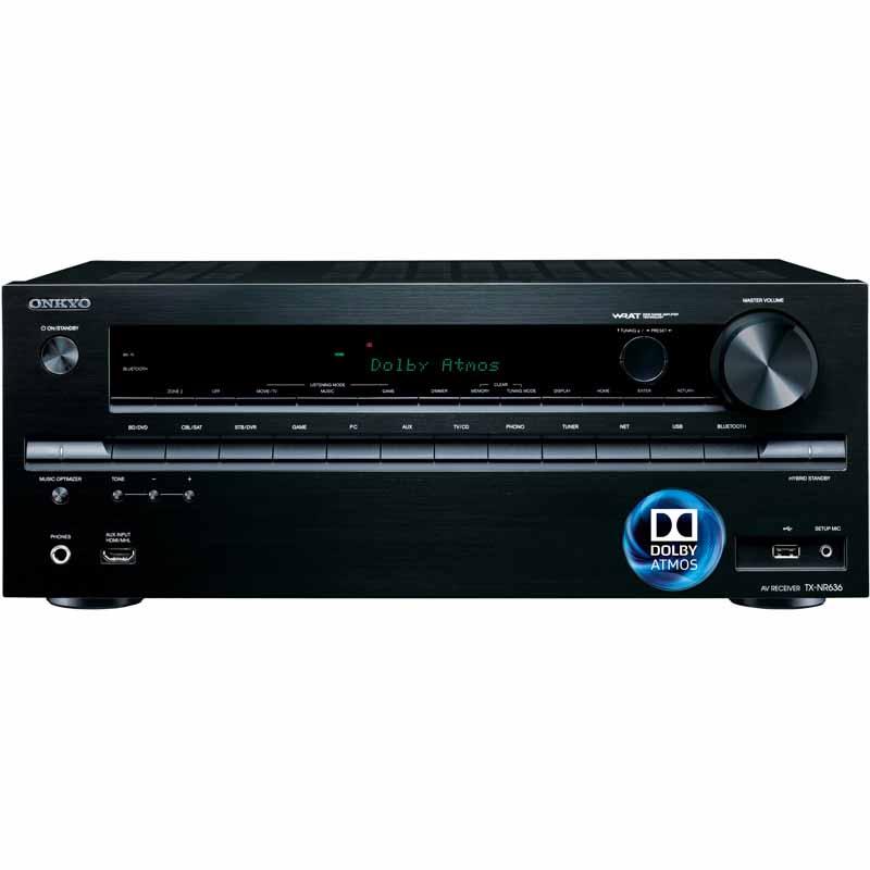 Onkyo TX-NR636 7.2ch 4k A/V Receiver: Atmos/2 Zone/Wi-Fi/Bluetooth/HDMI 2.0/HDCP 2.2 (Refurb) $229 - Fry's FS