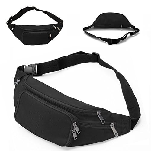 Fanny Pack with 4-Zipper Pockets [Black] $8.46 after code @ Amazon (Prime)