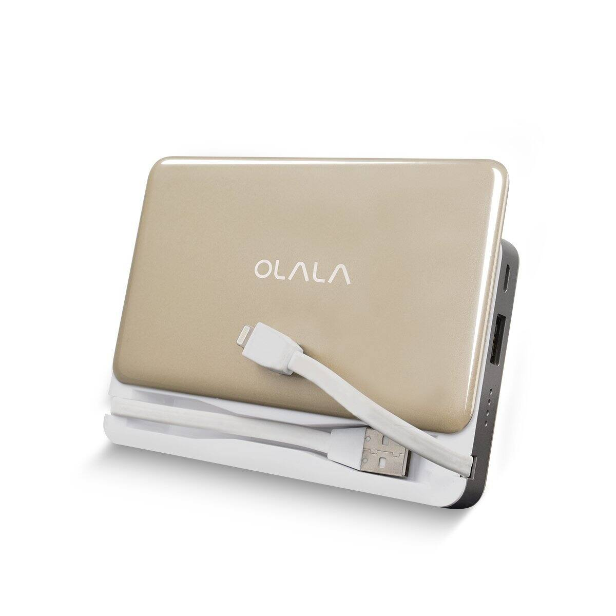 7500mAh Slide Power Bank with built in Lightning + USB Cables $24.81