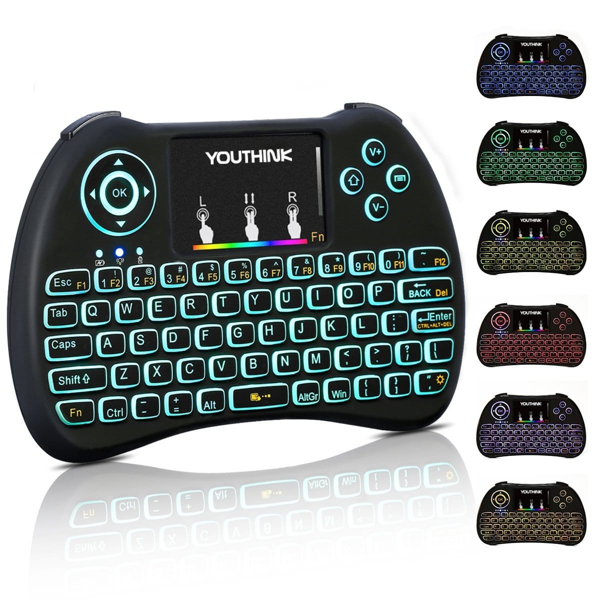 Mini Backlit Keyboard Remote with Touchpad 2.4ghz $10.98