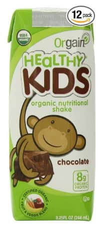12-Pack Orgain Healthy Kids Organic Shake, Chocolate $14.94 (5% S&S) or $12.84 (15% S&S)