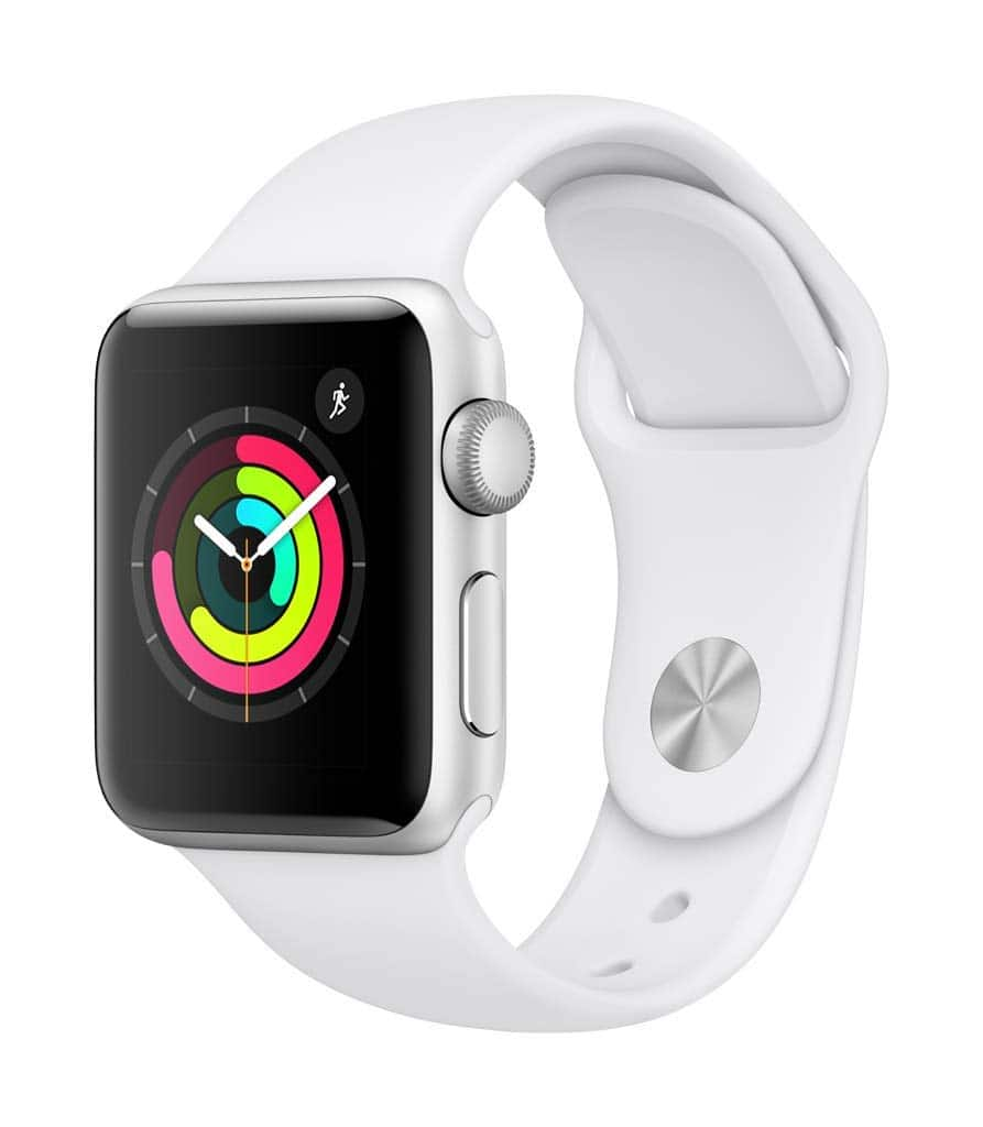 Apple Watch Series 3 (GPS, 38mm) - Silver Aluminium Case with White Sport Band $199