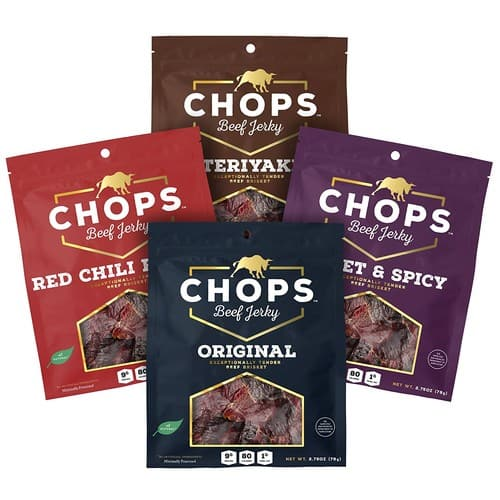 4 Bag Mixed Chops Beef Jerky $16.79 +Free Shipping $16.76