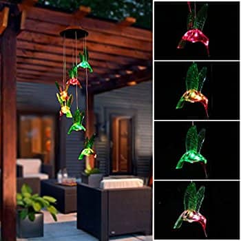 Color-Changing LED Solar Mobile Hummingbird Wind Chime on Amazon for $16.31