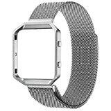 Swees® Milanese Loop Stainless Steel Wrist Watch for Fitbit Blaze Bands with Frame Metal on sale for $10.99 - $14.99
