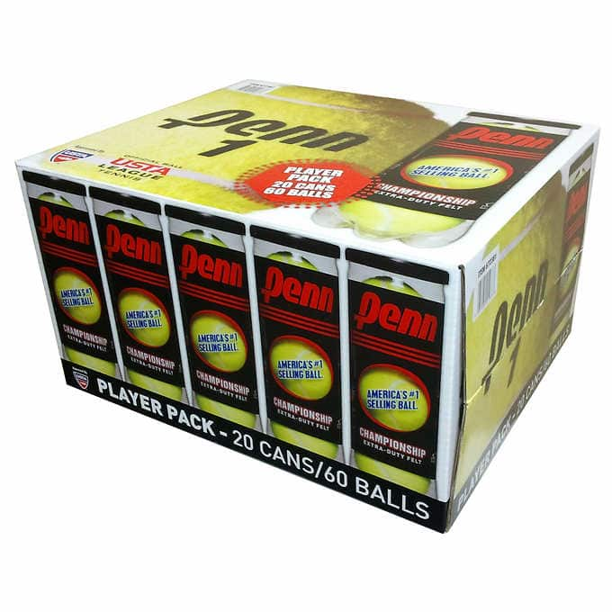 20-pack Penn Championship Extra Duty tennis balls $29.99 at Costco stores (in-store only) through 11/06/2019