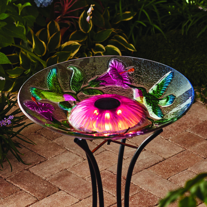 YMMV) Walmart: $5 Outdoor 18 in  Solar Hummingbird Bird Bath