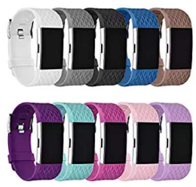 Fitbit Charge 2 Replacement Silicone Wristband 10 Pack $10.35 @Amazon