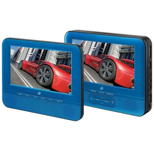 GPX 7 in Dual Screen Portable DVD Player $84.99 + Fs @homedepot.com