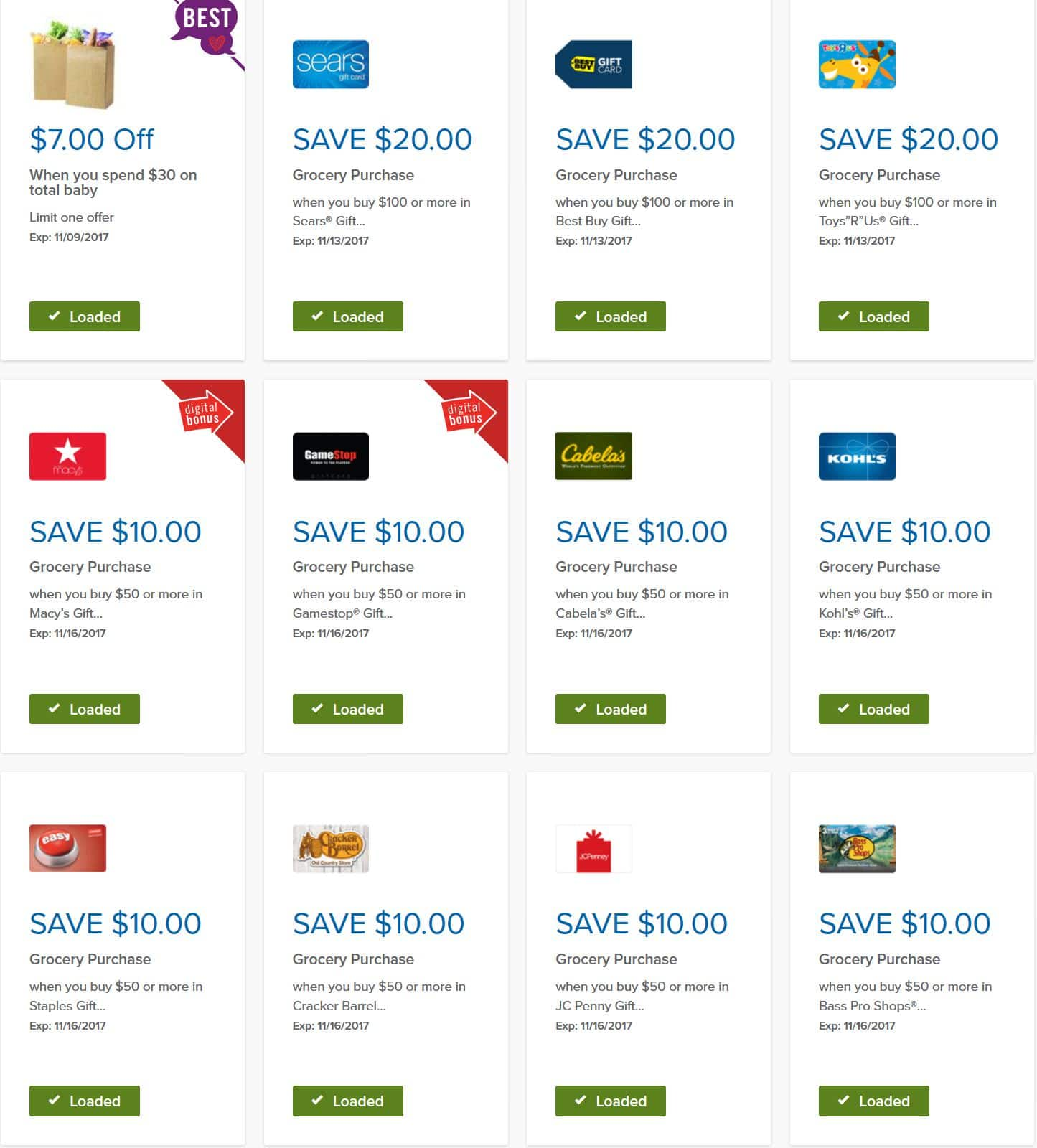 (Updated) Giant Food Stores Grocery $ off coupon for ...