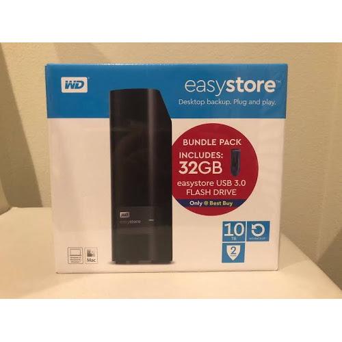 10TB WD Easystore External USB 3 0 Hard Drive + 32GB USB