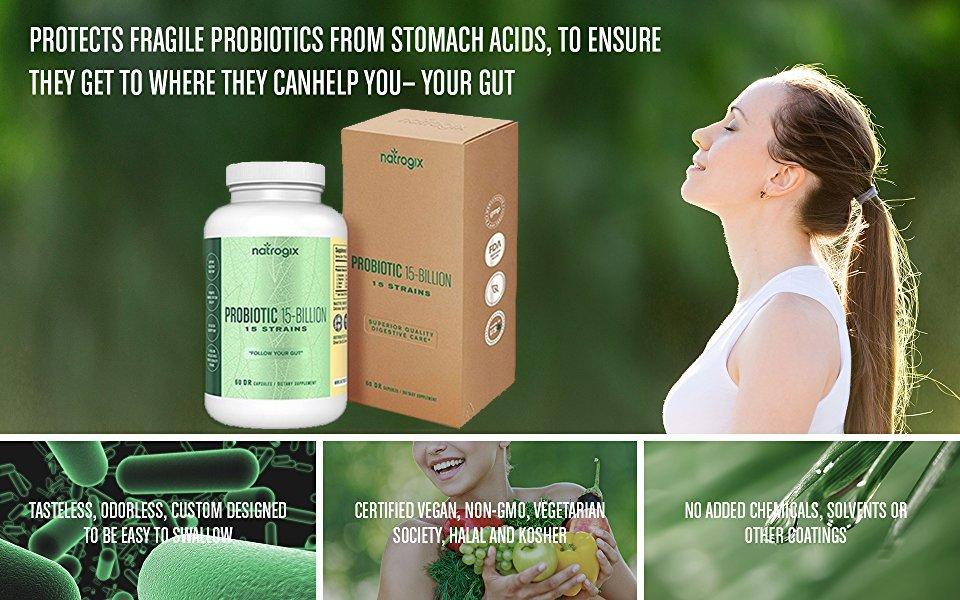 Natrogix Probiotics 15 Strains 15 Billion CFU Vegan AC for $10.79  @Amazon