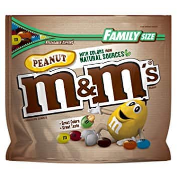 19.2oz M&M'S Peanut Chocolate Candy w/ Colors From Natural Sources $4.7