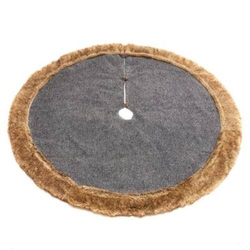Member's Mark 60 inch Christmas Tree Skirt w/ faux fur border -- $9.81 w/ free ship