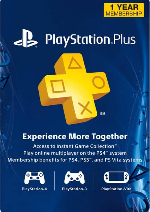 1-Year PlayStation Plus Membership (PS+) - PS3/PS4/PS Vita Digital Code (USA) $38.39