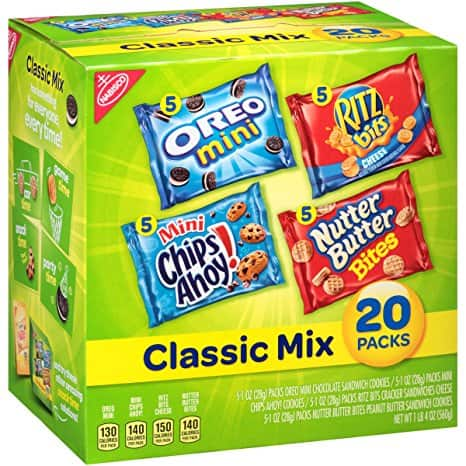 Add on item: Nabisco Classic Cookie and Cracker Mix (20-Count Box) $6.98