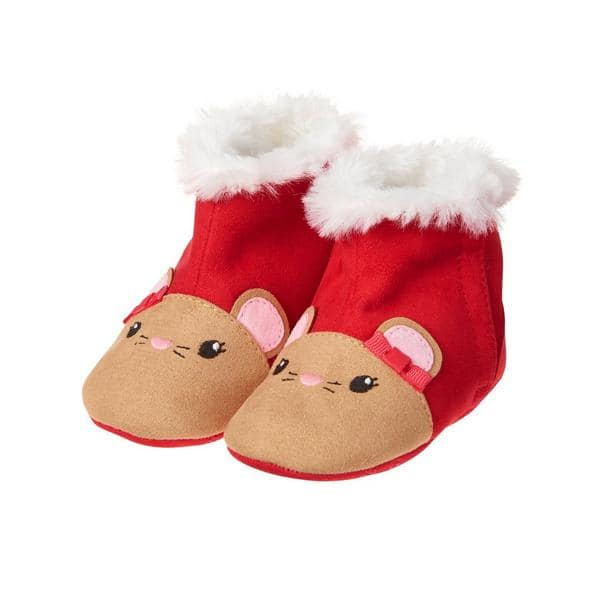 Holiday Mouse Slippers for Baby (All Sizes) $4.12