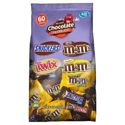 33.9oz MARS Chocolate Favorites Fun Size Candy Bars (60-Piece Bag Variety Mix) $6.02 @Amazon