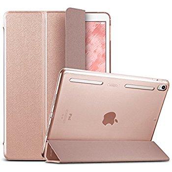 iPad Pro 10.5 Case with Apple Pencil Holder (Rose Gold) $3.9 @Amazon