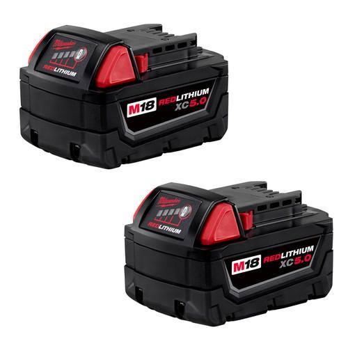 Milwaukee 2-Pack M18 XC 5ah Batteries $199 with free bonus tool.