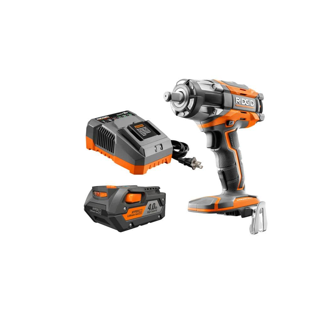 18-Volt OCTANE Lithium-Ion Cordless Brushless 4-Mode Compact Impact Wrench Kit with (1) 4 Ah Battery and 18-Volt Charger $149