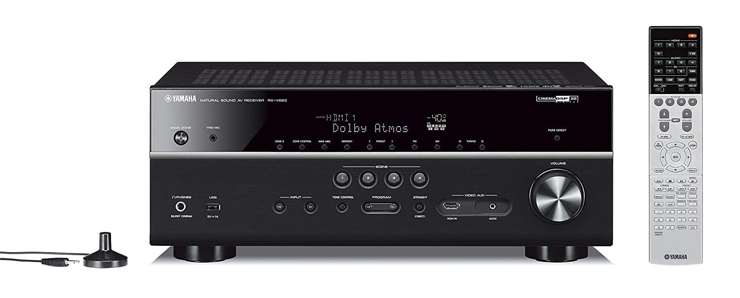 Yamaha RX-V683BL 7.2-Channel MusicCast AV Receiver with Bluetooth, Works with Alexa $350 Amazon