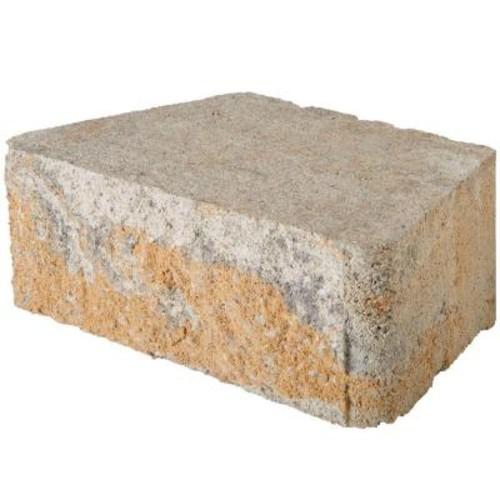 Pavestone RockWall 11.5 in. x 7 in. x 4 in. Yukon Concrete Retaining Wall Block $1.48/each